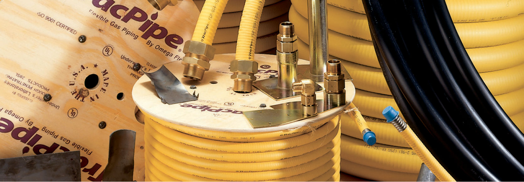 OmegaFlex | Gas Piping | Flexible Gas Piping | About - TracPipe